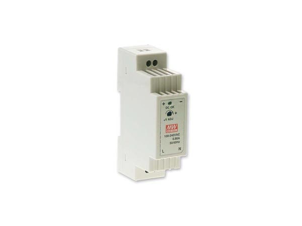 15 W SINGLE OUTPUT INDUSTRIAL DIN RAIL POWER SUPPLY 24 V 0.63 A
