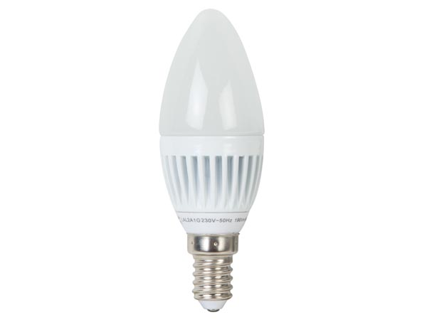 BOMBILLA LED - VELA - 3W - E14 - 230V - COLOR BLANCO FRÍO