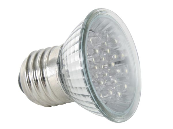 FOCO LED E27 - COLOR AMARILLO - 240VAC - 18 LEDs