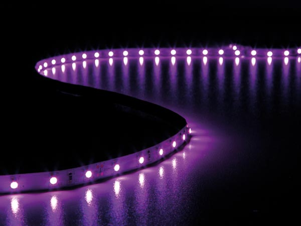 CINTA DE LEDs FLEXIBLE - COLOR ROSA - 300 LEDs - 5m - 24V