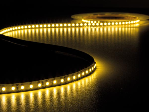 CINTA DE LEDs FLEXIBLE - COLOR BLANCO CÁLIDO 3500K - 600 LEDs - 5m - 24V