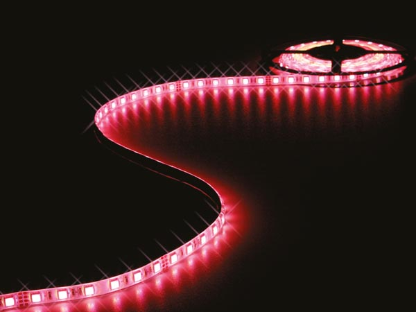 CINTA DE LEDs FLEXIBLE - 1 CHIP COLOR RGB Y BLANCO CÁLIDO 3500K - 300 LEDs - 5 m - 24 V