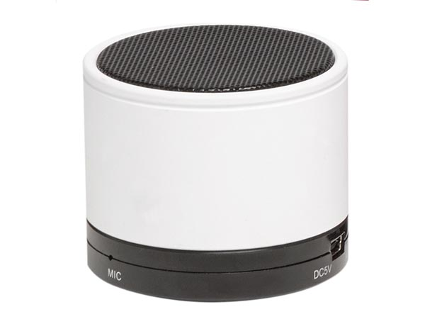 BTS-21WHITE - Wireless bluetooth speaker with rechargeable battery (white)